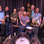 group shot of the Rusty Berrings Brass band